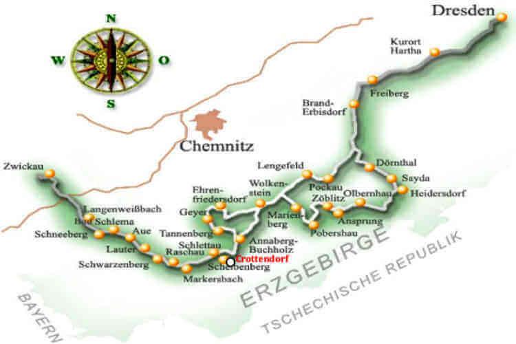 Bergbau Erzgebirge Karte.Impressionen Im Oberen Erzgebirge